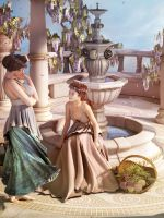 Fountain Gossip by NightsongWS