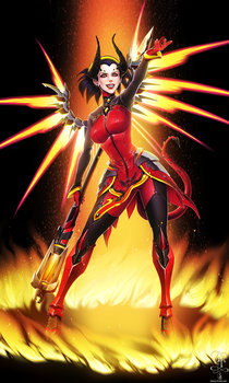 Overwatch - Devil Mercy - For a Price by ghostfire