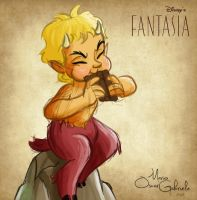 Faun from Disney's Fantasia by MarioOscarGabriele