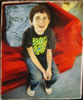 autistic boy in colored pencil by charlieinabox
