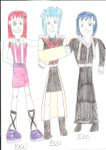 Kairi, Aqua and Xion by jacobyel
