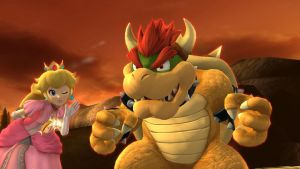 Peach and Bowser by hedgehognetworks