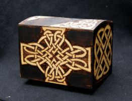 Celtic knot money box front by llinosevans