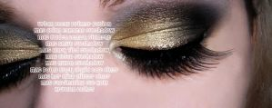 EOTD - gold and black by roxy-rouge