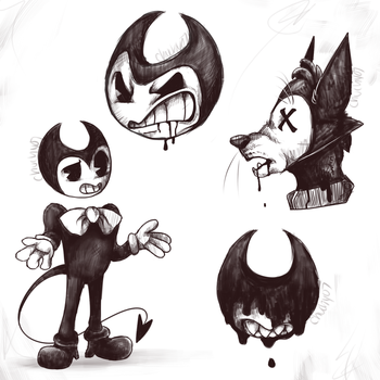 Bendy sketches by chuchy07