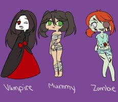 halloween adoptables batch 2 (closed) by Ika-Hime