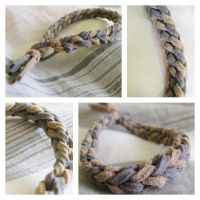 Suede Cord Bracelet by CraftyAlice