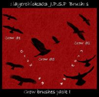 Crow Brushes Pack I by slayerchick303