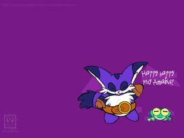 Wallpaper - Chibi Big + Froggy by outcastsproductions