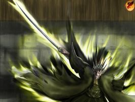 Zaraki_Kenpachi Hell itself by Desert-F