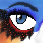 Painted Eye by The-Equinox-Arises