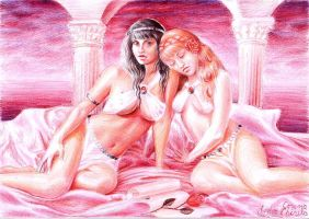 Sappho and Gongyla by CORinAZONe