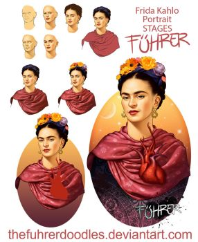 Frida Stages by TheFuhrerDoodles