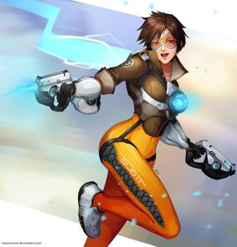 Overwatch Tracer (w/painting process) by clayscence