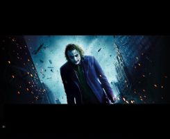 The Dark Knight Joker Standing by DJFFNY