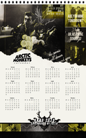 2015 calendar, Arctic Monkeys. [GIFT FOR JULIA] by taxitoheaven