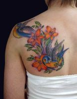Birds and Lillies by Origam-e