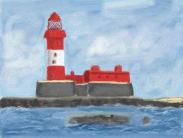 Red Lighthouse by VATalbot