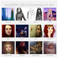 2013 Summary of Art by lou2209