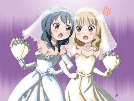 Himawari-&-Sakurako's-wedding by VZMk2