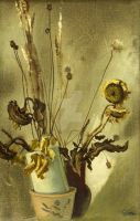 Dry sunflowers by AmsterdamArtGallery