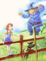 Oz: Dorothy and Sarecrow by LordSiverius