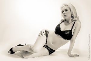 Cherie Lingerie Monochrome by BrianMPhotography