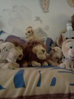 Mufasa and Sarabi came for a visit by Heatherannpt