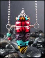Zahra - Glass Torched Bottle Pendant by andromeda