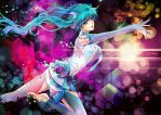 Diving in Melodies-Miku Append by Feohria