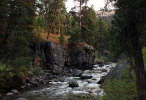 Secluded Wyoming River by Halcyon1990