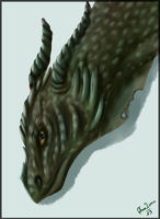 Dragon portrait by Afna2ooo
