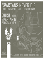 Halo Spartan IV Recruitment poster by Open-Circle