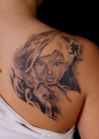 Kawasaki girl with changes by viptattoo