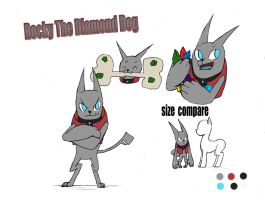 Rocky the Diamond dog by Edavgreen