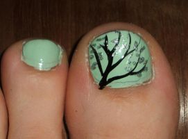 Toe Nail Tree by lettym