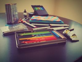 My Art Supplies by madhatterkyoko