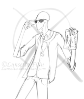 Slenderman sketch by Lunsetta