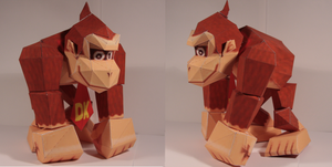 Donkey Kong papercraft by Drummyralf