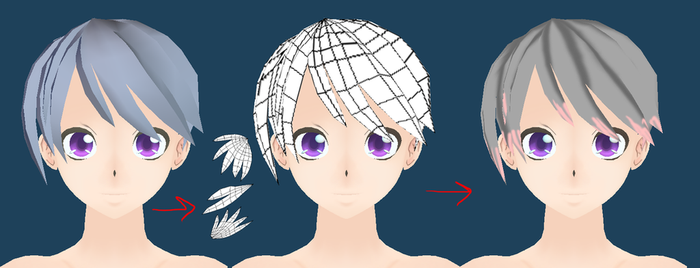 How To Model And Uv Map Hair by PolygonCount