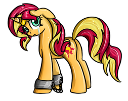 CP: sunset shimmer sad D: by Crystalchan2D