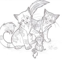 +Two Cats And A Mouse+ by min-mew