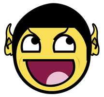Spock Awesome Smiley by E-rap