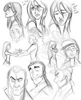 Les Miserables Sketch Dump by HarpyMarx