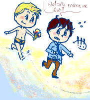 DCU: long picnics on the beach by llefto