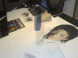 michael jackson in progress by krisiD