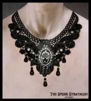 Gothic necklace 'Evil Queen' by TheSpiderStratagem