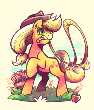 Applejack by crayon-chewer