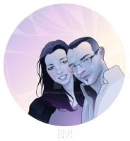 - Chiara and Christian - Digital portrait by neptune82