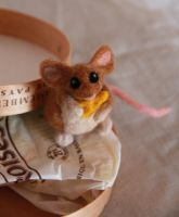 Cute mouse with cheese. by Shoshannah84